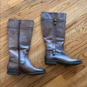 Arturo Chiang tall riding boots, brown, sz 8-1/2